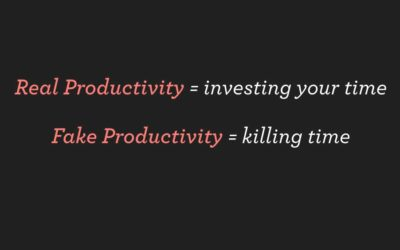 "Forget About Fake News, the Real Problem Is ""Fake Productivity"""